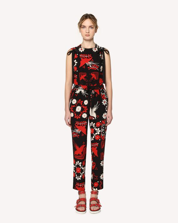 REDValentino Decorated Terrace printed silk pants