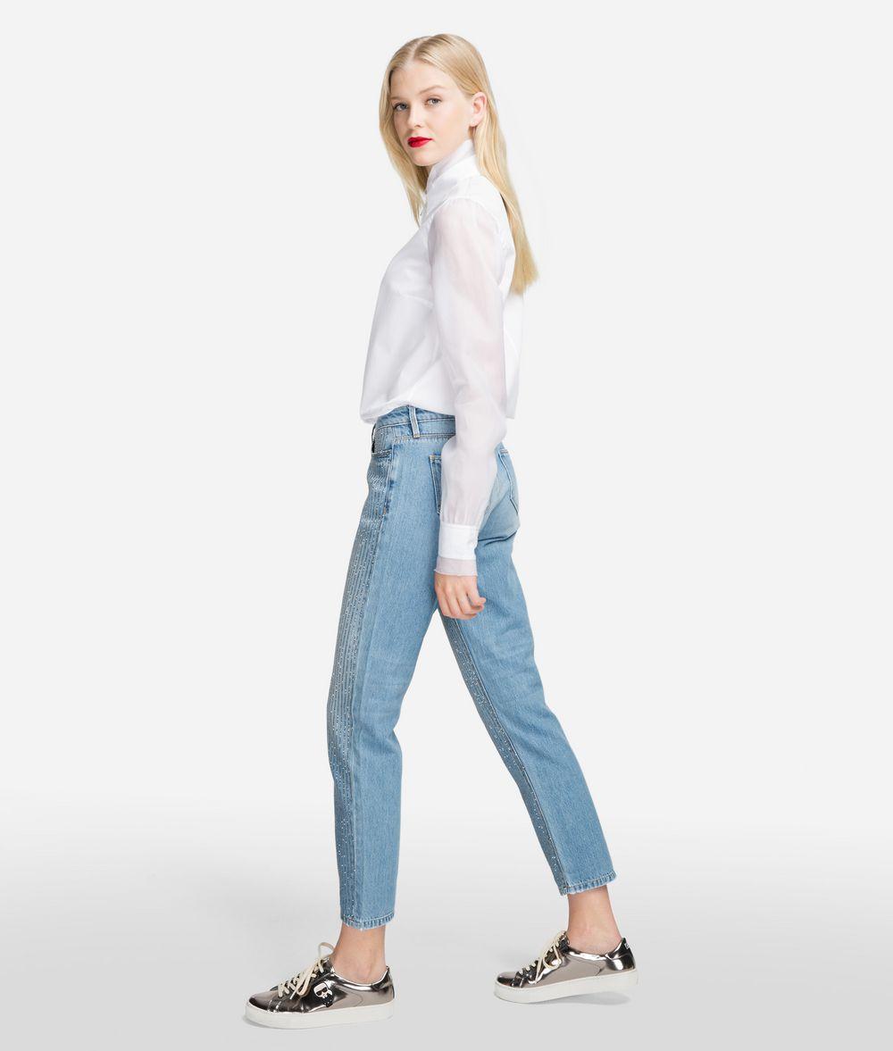 KARL LAGERFELD Sparkle Girlfriend Jeans Pants Woman d