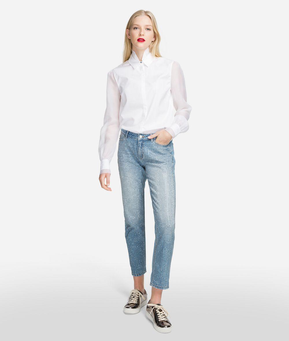 KARL LAGERFELD Sparkle Girlfriend Jeans Pants Woman f
