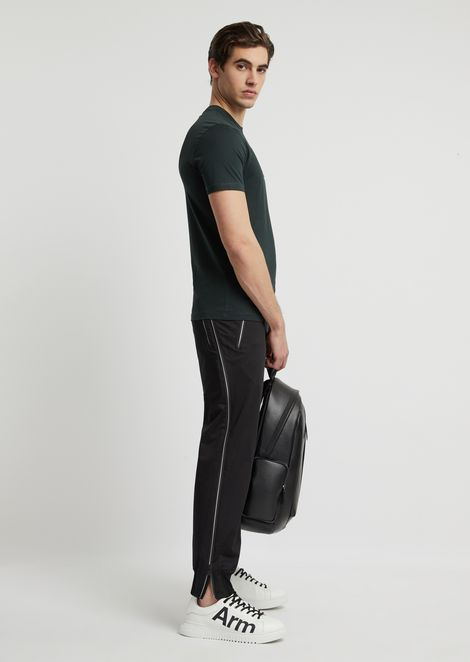 Stretch cotton jogging trousers
