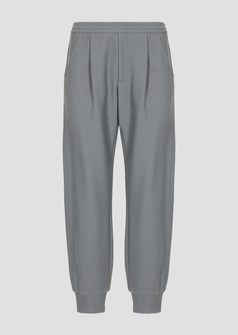 Jogging trousers in bonded honeycomb fabric