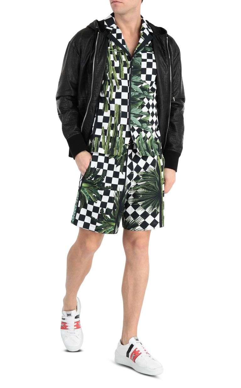 JUST CAVALLI Garden-check shorts Shorts [*** pickupInStoreShippingNotGuaranteed_info ***] d