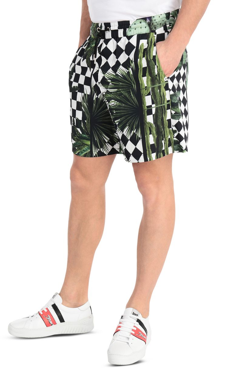 JUST CAVALLI Garden-check shorts Shorts [*** pickupInStoreShippingNotGuaranteed_info ***] f