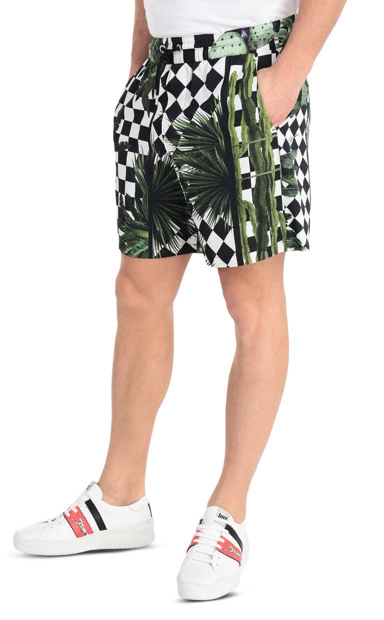 JUST CAVALLI Garden-check shorts Shorts Man f