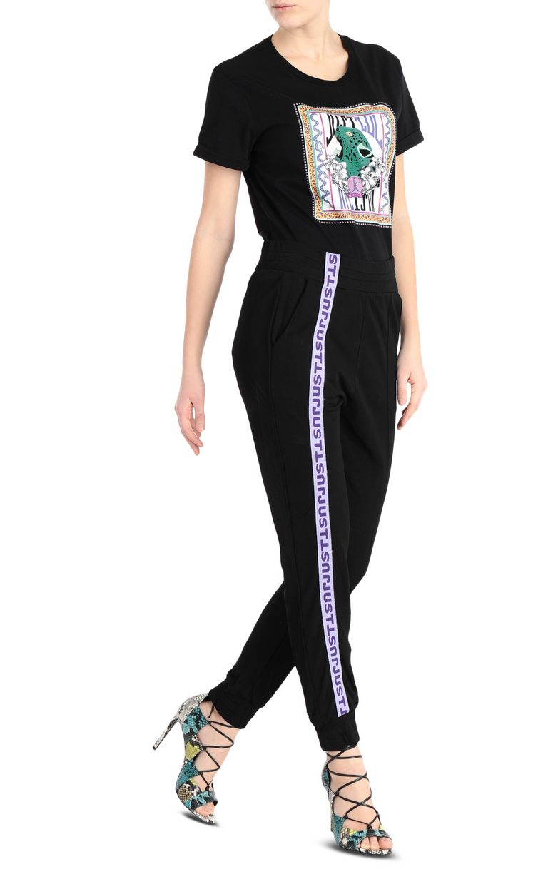 JUST CAVALLI Track trousers with logo band Casual pants Woman d
