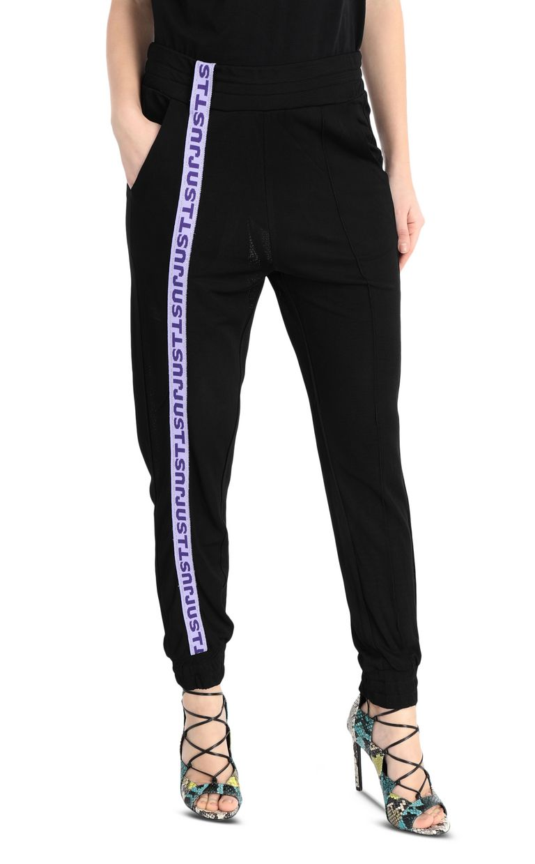 JUST CAVALLI Track trousers with logo band Casual pants Woman f
