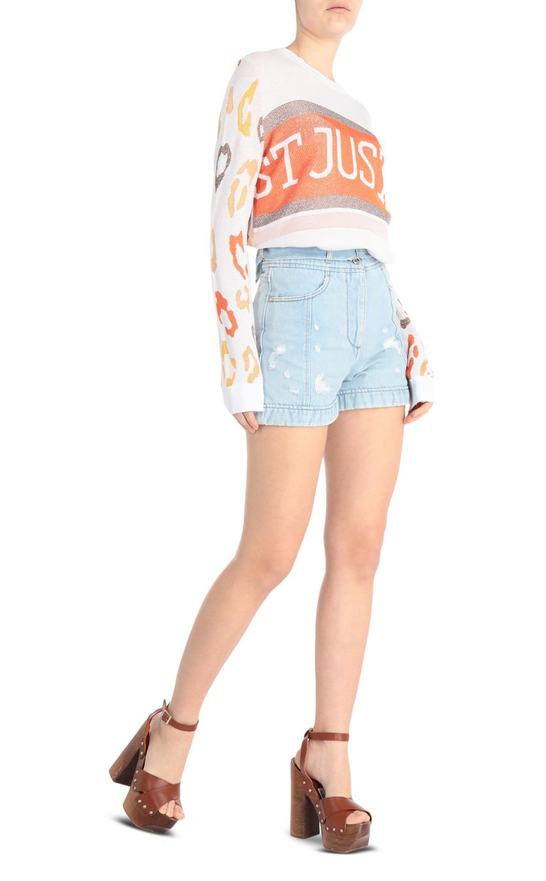 JUST CAVALLI Ripped denim shorts Shorts Woman d
