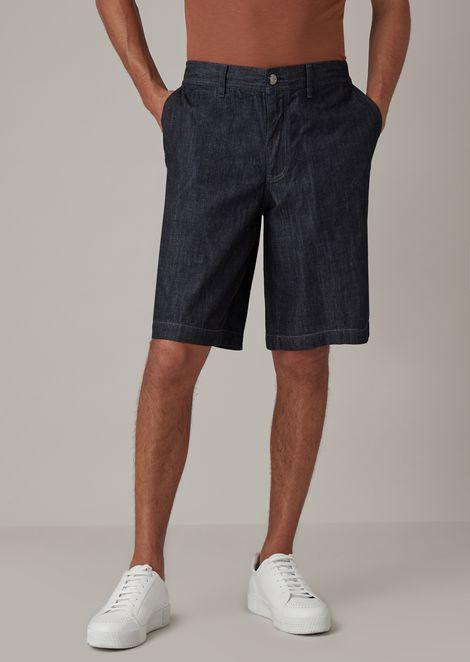 Bermuda shorts in Japanese denim with natural indigo dye