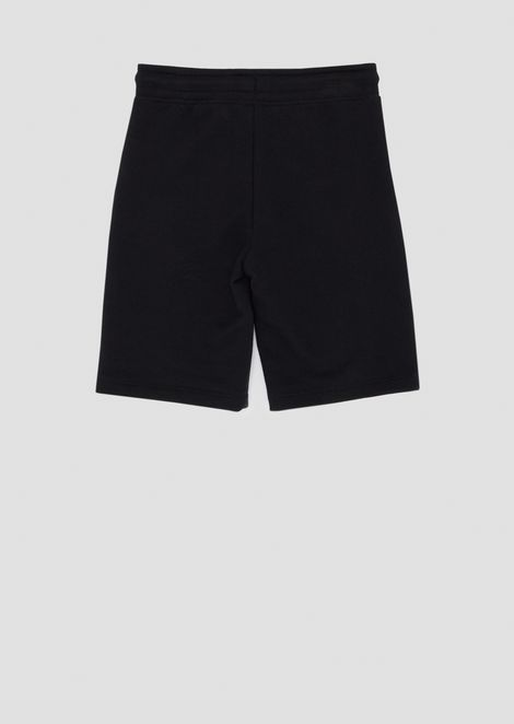 Pantalones cortos de felpa con franjas laterales con logotipo