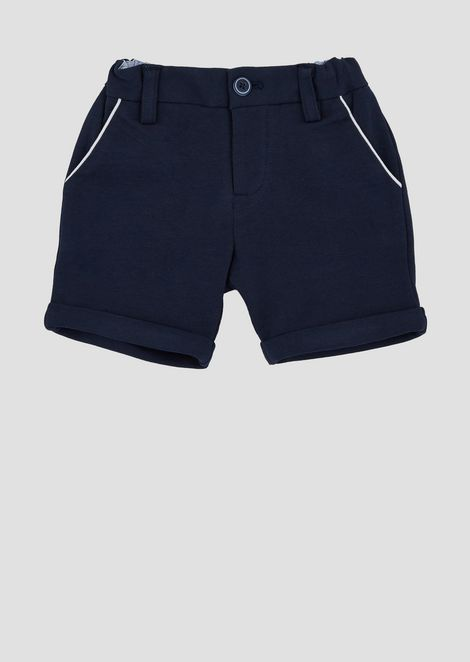 Cotton Bermuda shorts with contrasting pocket profiles