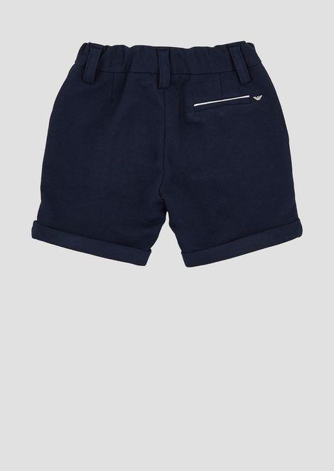 Cotton Bermuda shorts with contrasting pocket profiles