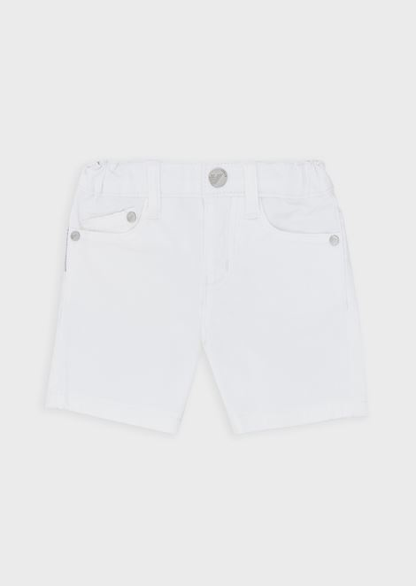 Bermuda shorts in cotton gabardine
