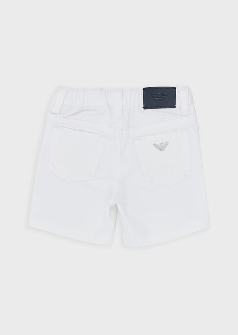 Bermuda shorts in cotton gabardine