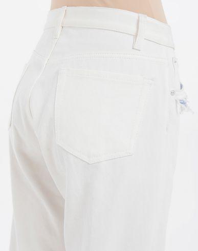 TROUSERS Décortiqué denim pants White