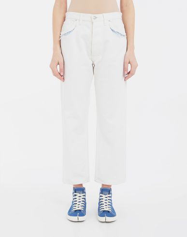 PANTS Décortiqué denim pants White