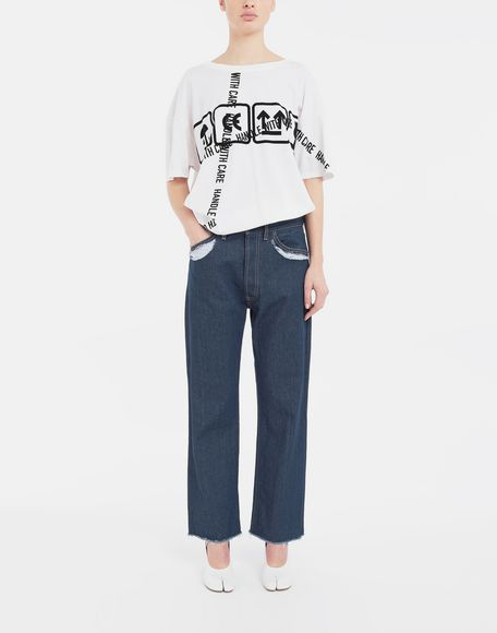 MAISON MARGIELA Décortiqué denim pants Jeans Woman d
