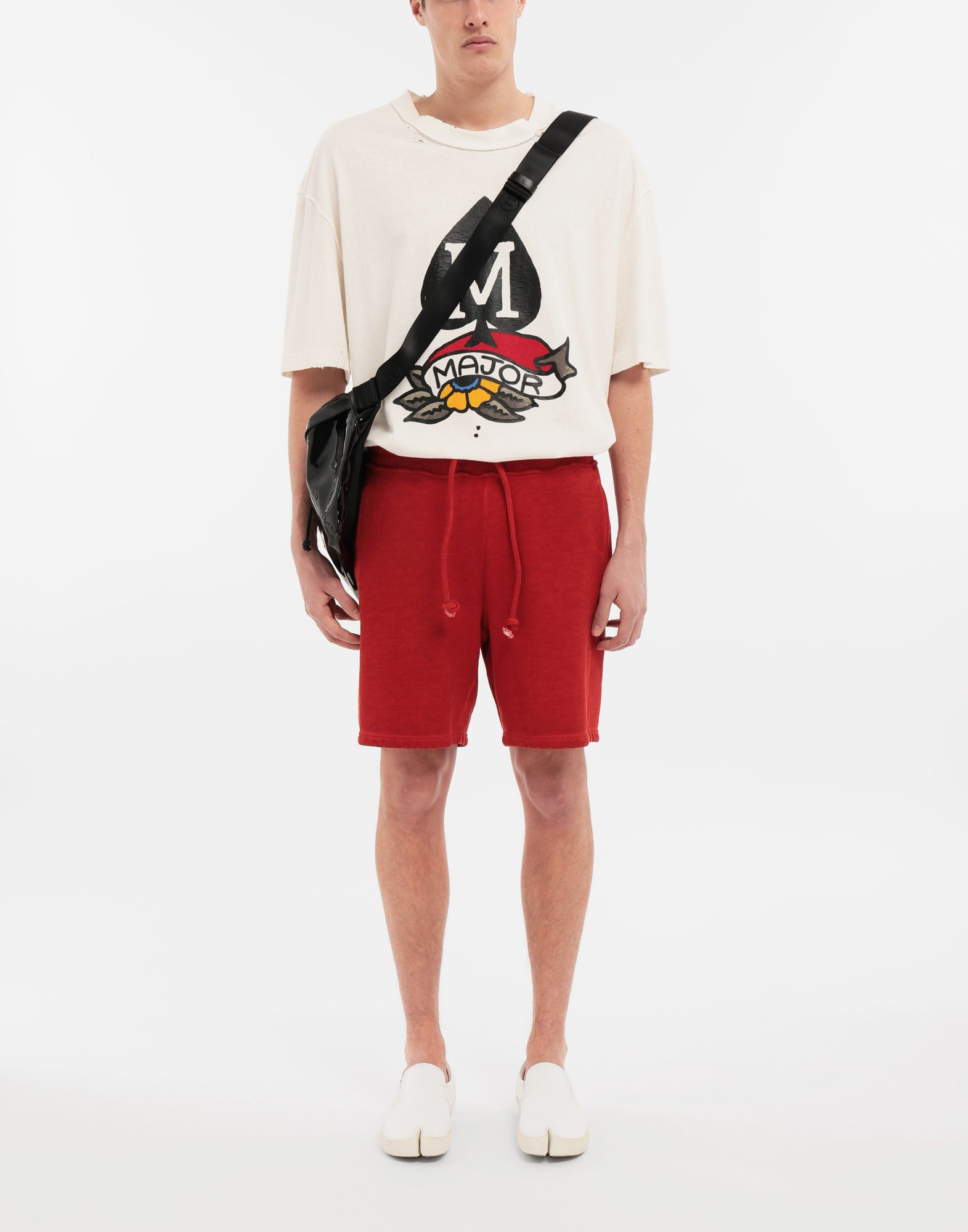MAISON MARGIELA Drawstring cotton shorts Shorts Man d
