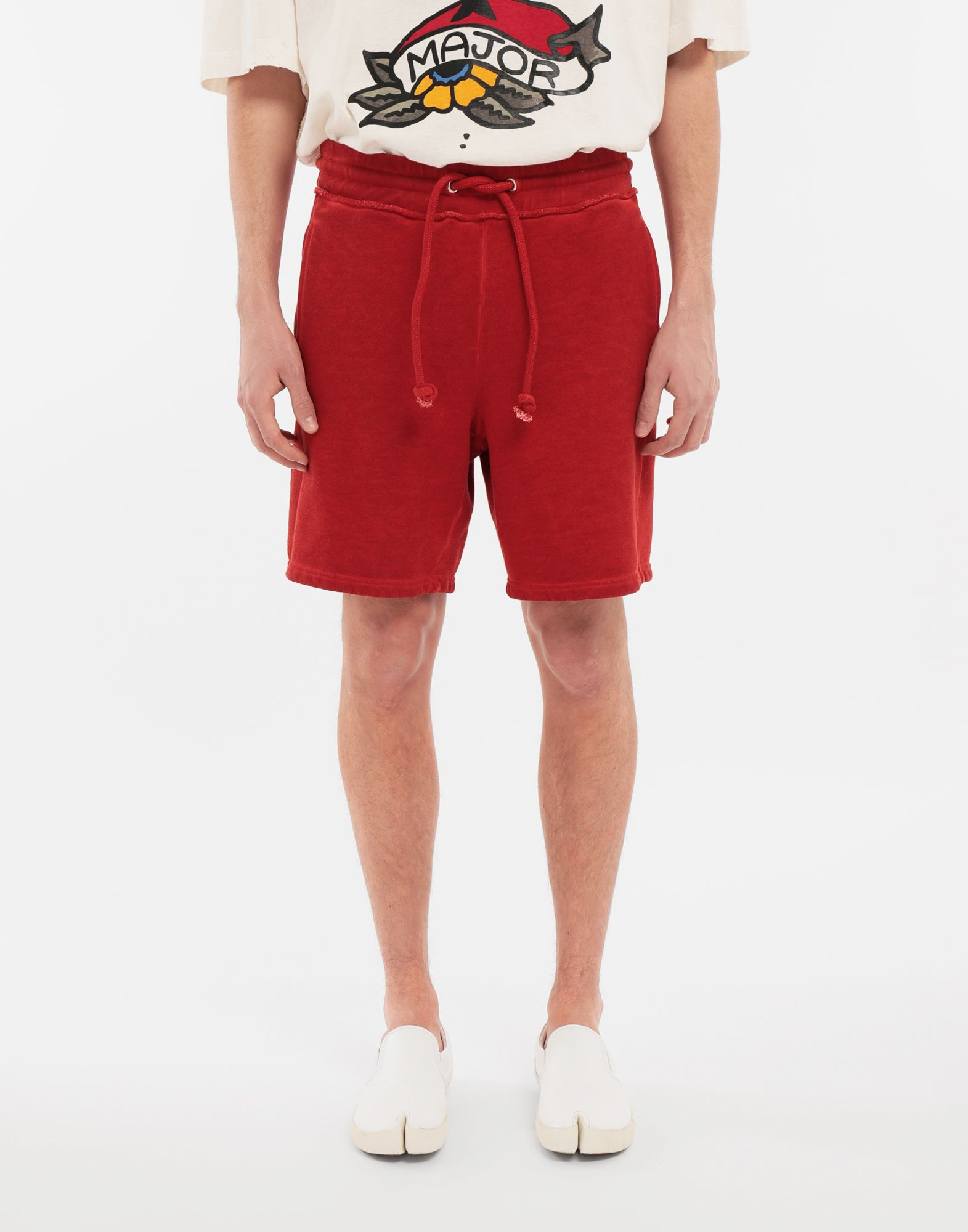 MAISON MARGIELA Drawstring cotton shorts Shorts Man r