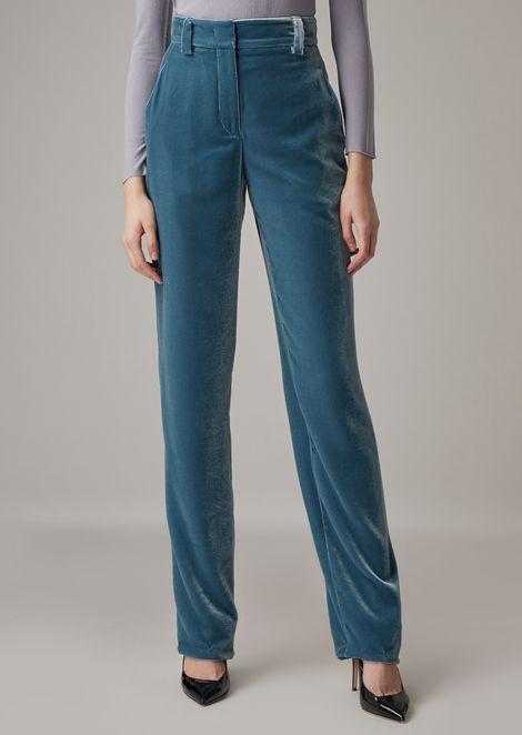 Velvet chino pants
