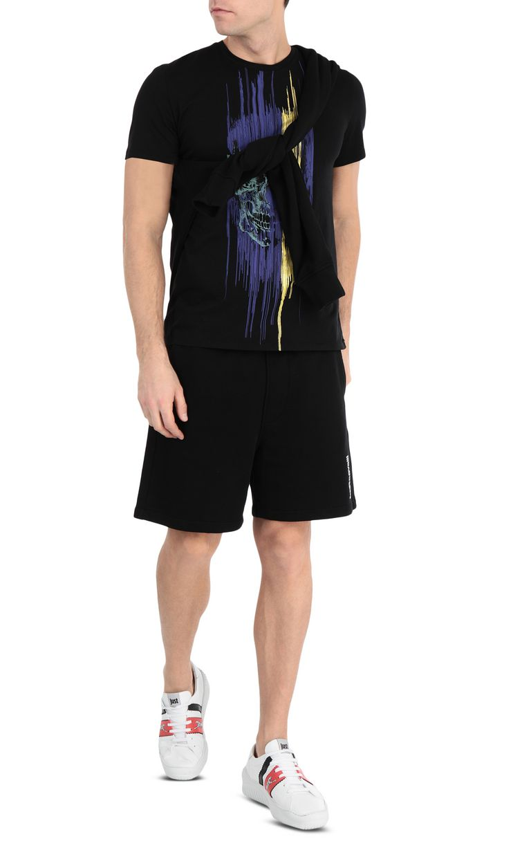 JUST CAVALLI Shorts with skull Shorts Man d