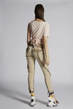 DSQUARED2 Stretch Cotton Twill Operation Blue Beam Cool Girl Pants Trousers Woman