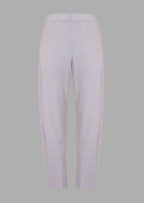Pantaloni a fondo corto in tessuto punto links