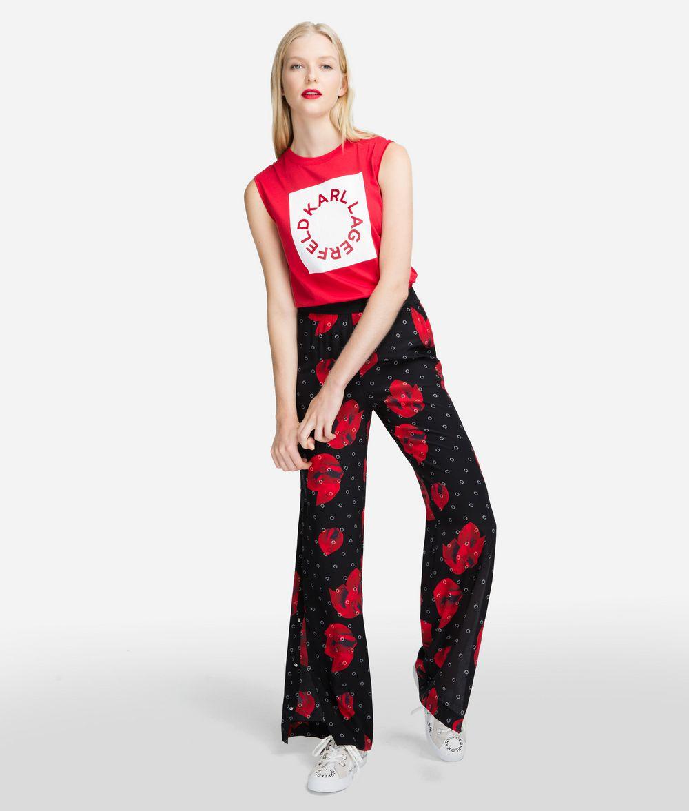 KARL LAGERFELD High-Waist Pants Pants Woman f