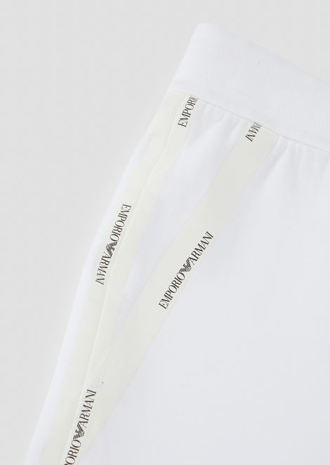 Cotton Bermuda shorts with side logo taping