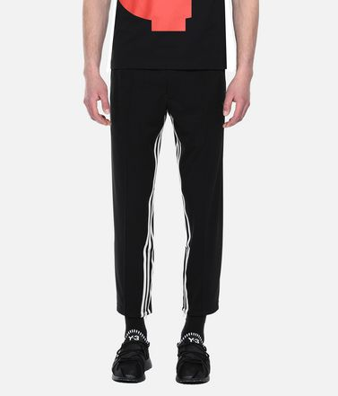 Y-3 トラックパンツ メンズ Y-3 3-Stripes Cropped Track Pants r