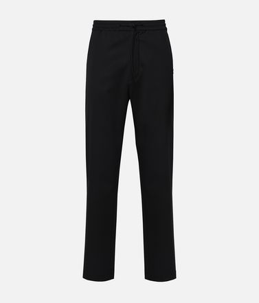 Y-3 Wool Satin Straight Leg Pants