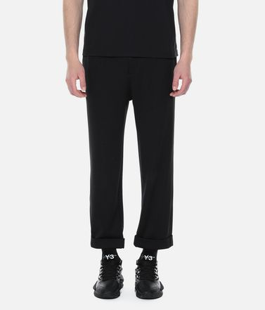 Y-3 Tracksuit bottoms Man Y-3 Turn-Up Track Pants r