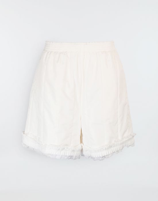 MM6 MAISON MARGIELA Lace-trimmed jersey shorts Shorts [*** pickupInStoreShipping_info ***] f
