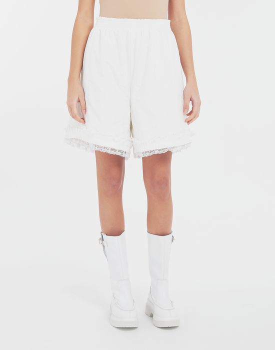 MM6 MAISON MARGIELA Lace-trimmed jersey shorts Shorts [*** pickupInStoreShipping_info ***] r