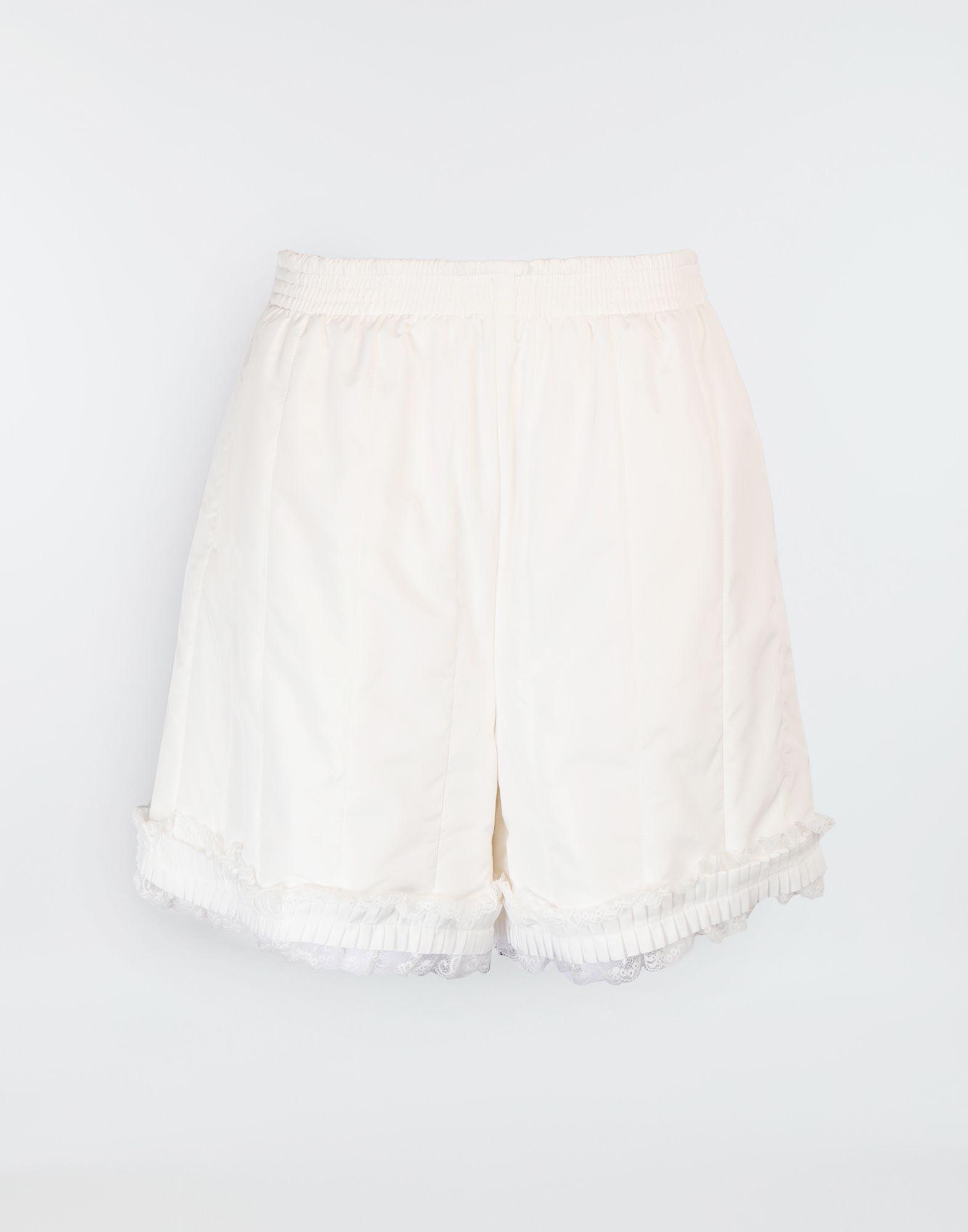 MM6 MAISON MARGIELA Lace-trimmed jersey shorts Shorts Woman f