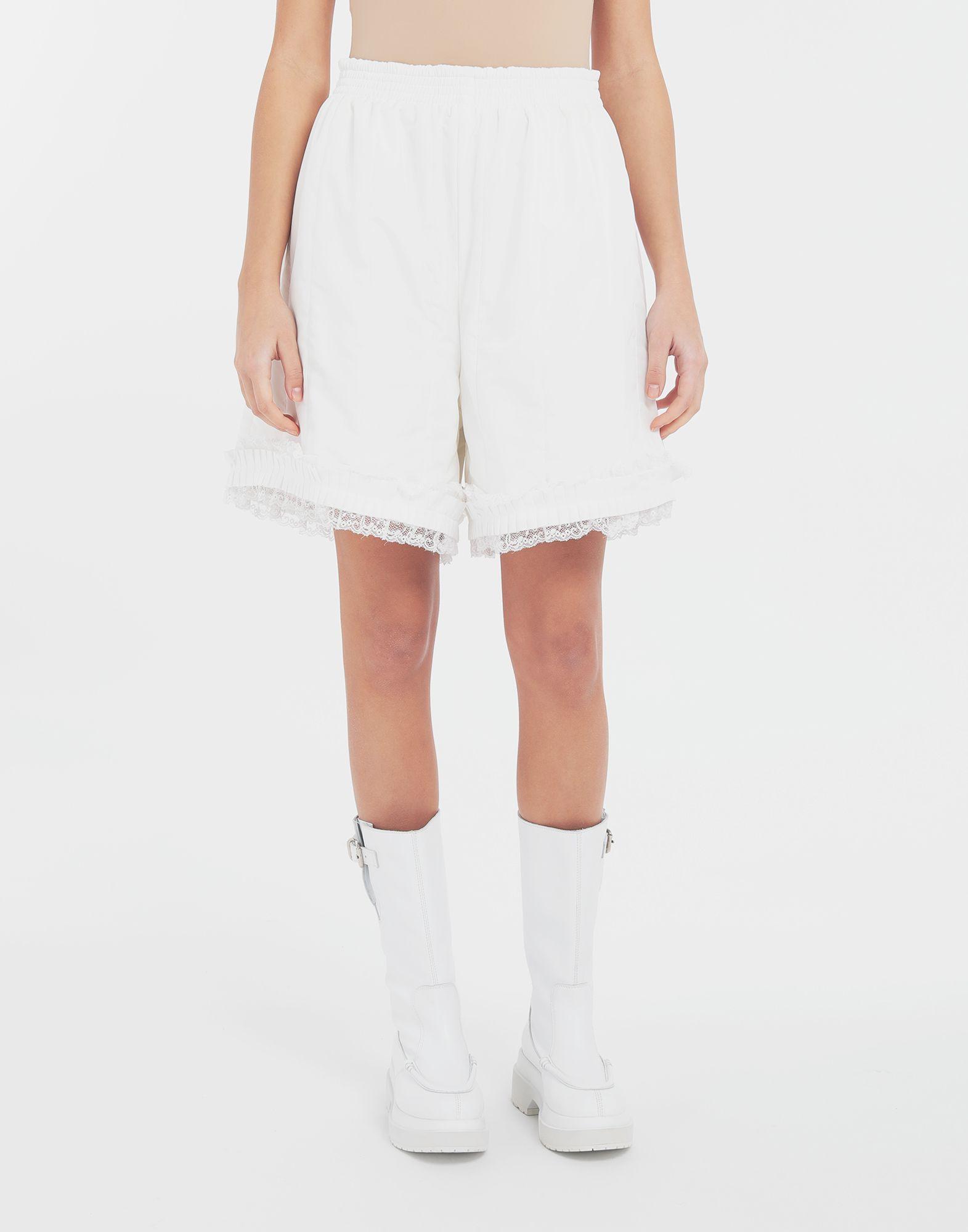 MM6 MAISON MARGIELA Lace-trimmed jersey shorts Shorts Woman r
