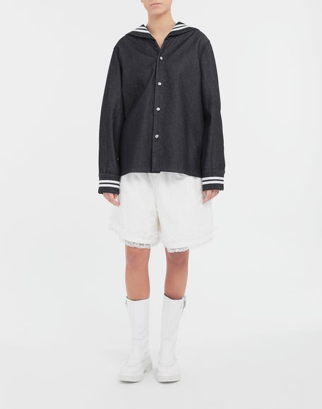 MM6 MAISON MARGIELA Lace-trimmed jersey shorts Shorts Woman d