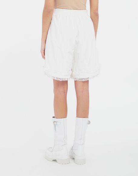 MM6 MAISON MARGIELA Lace-trimmed jersey shorts Shorts Woman e