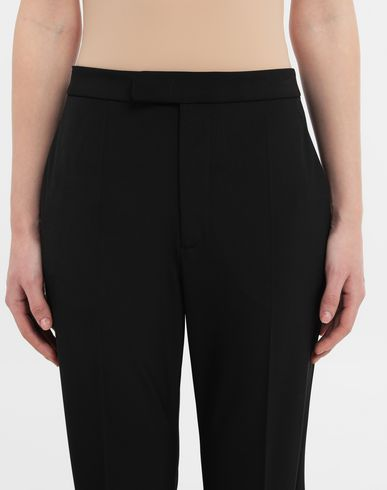 PANTS Straight-leg woven pants Black