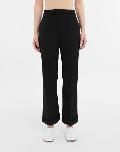 TROUSERS Straight-leg woven pants Black