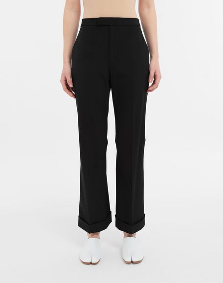 MAISON MARGIELA Straight-leg woven pants Casual pants Woman r