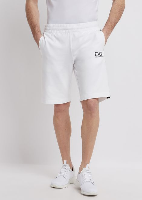 Train Logo Bermuda shorts in baby French terry cotton
