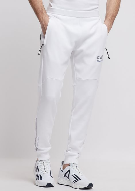 Natural Ventus7 cotton and polyester jogging pants
