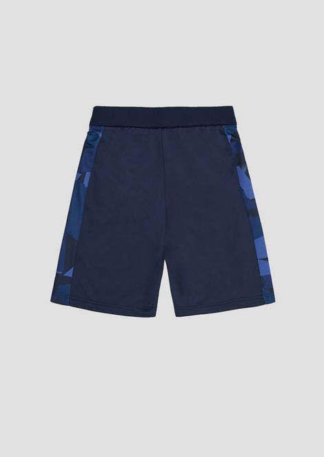 Boys' fleece shorts with patterned bands