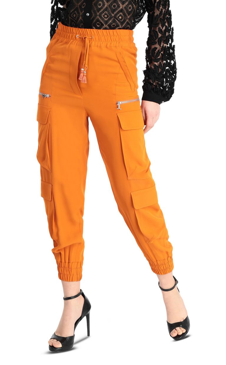 JUST CAVALLI Track trousers with big pockets Casual pants Woman f