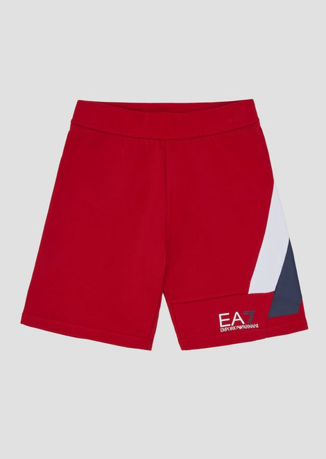 Boys' color block fleece shorts