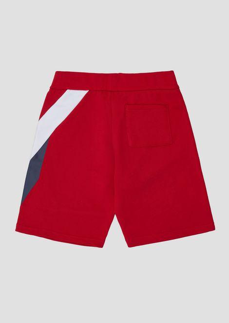 Pantalones cortos de niño en felpa de color único