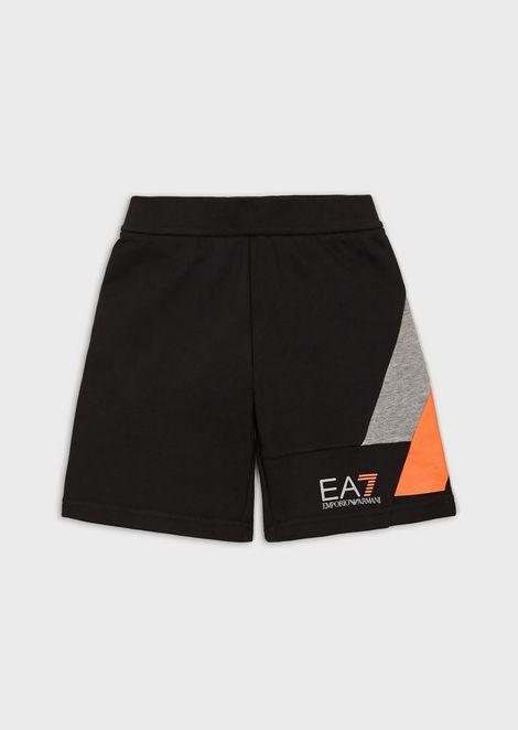 Boys' color block fleece shorts