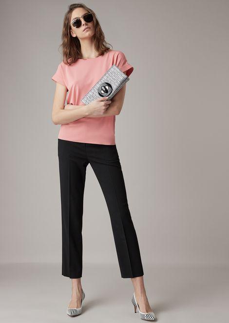 Hose mit kürzerem Bein aus Cady und Seide