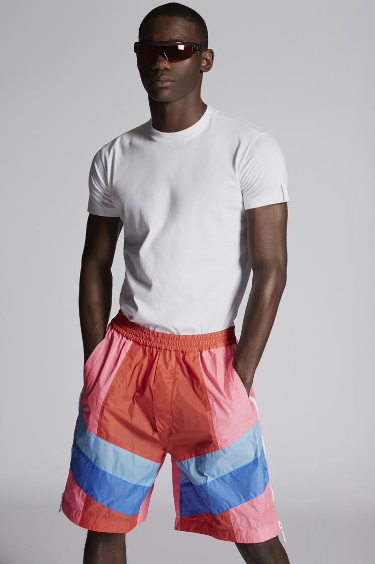 DSQUARED2 Mixed Colour Nylon Shorts Shorts Man