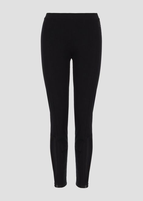 Stretch cotton leggings with breathable details